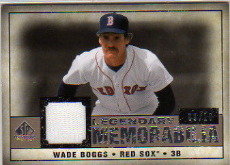 2008 SP Legendary Cuts Legendary Memorabilia 10 #WB2 Wade Boggs