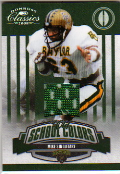 2008 Donruss Classics Old School Colors Jerseys #15 Mike Singletary