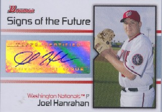 2008 Bowman Signs of the Future #JH Joel Hanrahan