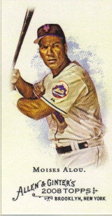 2008 Topps Allen and Ginter Mini A and G Back #181 Moises Alou
