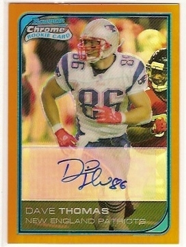 2006 Bowman Chrome Rookie Autographs Orange Refractors #262 David Thomas