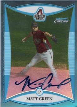 2008 Bowman Chrome Prospects Blue Refractors #BCP266 Matt Green AU