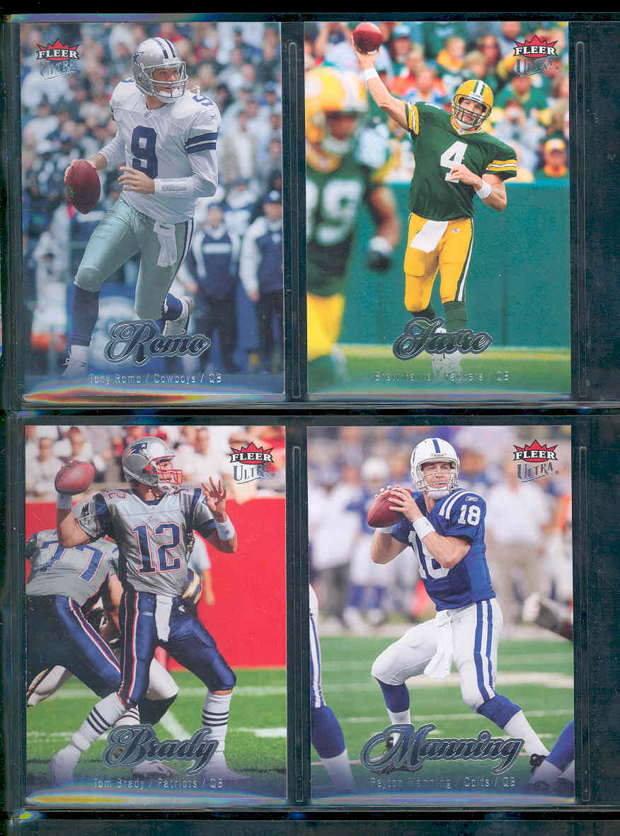 2007 Ultra Football Complete Base Set 1-150 w/ Tony Romo Brett Favre Peyton Manning Tom Brady Low Shipping Cost!!