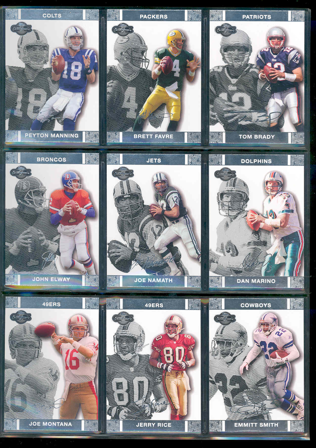 2007 Topps Co-signers Set 1-50 w/ Peyton Manning Brett Favre Tom Brady John Elway Joe Namath Dan Marino Jerry Rice Emmitt Smith Joe Montana Low Shipping Cost!