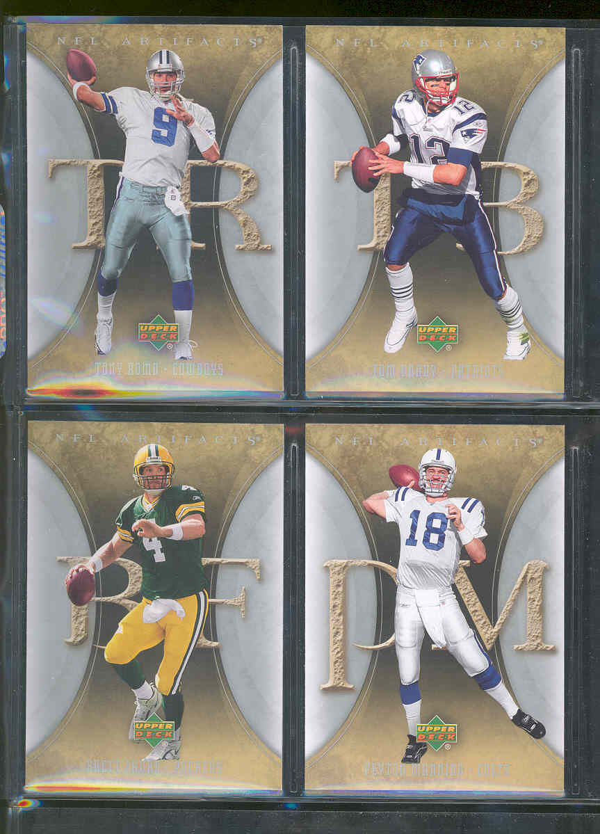 2007 Upper Deck Artifacts Football Set 1-100 w/ Tom Brady Tony Romo Brett Favre Peyton Manning and others Low Shipping Cost!