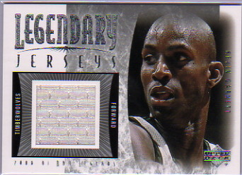 2001-02 Upper Deck Legends Legendary Jerseys #KGJ Kevin Garnett