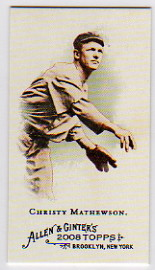 2008 Topps Allen and Ginter Mini Baseball Icons #BI9 Christy Mathewson