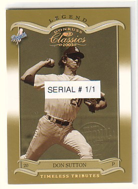 2003 Donruss Classics Atlantic City National #119 Don Sutton LGD