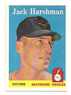 1958 Topps #217 Jack Harshman EX Actual scan