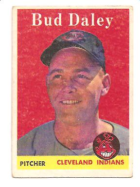 1958 Topps #222 Bud Daley EX Actual scan