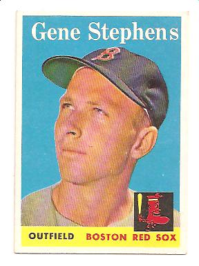 1958 Topps #227 Gene Stephens EX Actual scan