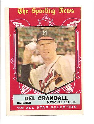 1959 Topps #567 Del Crandell AS EX Actual scan