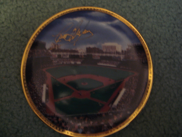 Curt Blefary Yankee Stadium Autographed 1989 Sports Impressions Mini Plate By Robert Stephen Simon With COA