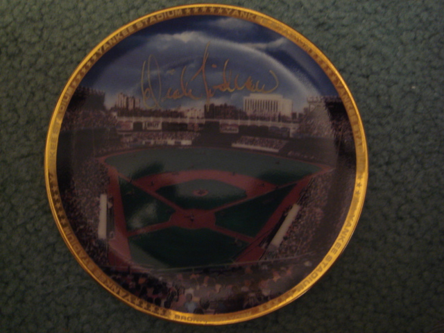 Dick Tidrow Yankee Stadium Autographed 1989 Sports Impressions Mini Plate By Robert Stephen Simon With COA