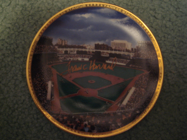 Frank Howard Yankee Stadium Autographed 1989 Sports Impressions Mini Plate By Robert Stephen Simon With COA