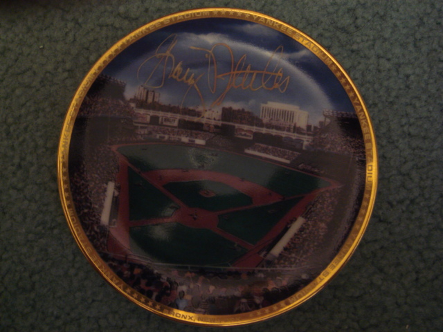 Graig Nettles Yankee Stadium Autographed 1989 Sports Impressions Mini Plate By Robert Stephen Simon With COA