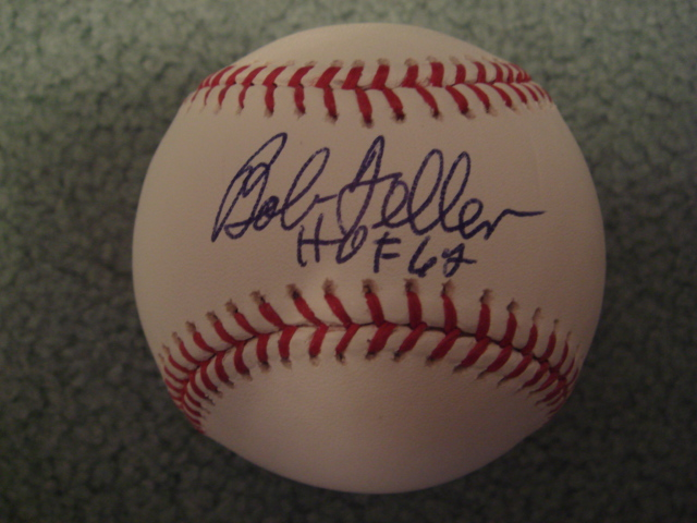 Bob Feller HOF 62 Autographed Official MLB Baseball With Steiner COA