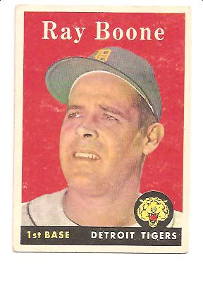 1958 Topps #185 Ray Boone EXMT Actual scan