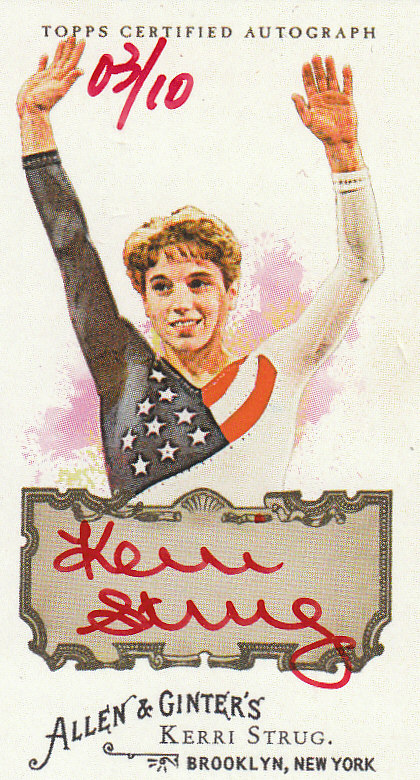 2008 Topps Allen and Ginter Autographs Red Ink #KS Kerri Strug RIP front image
