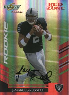 2007 Select Autographs Red Zone #331 JaMarcus Russell/10
