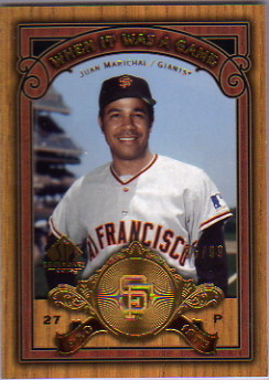 2006 SP Legendary Cuts When It Was A Game Gold #JU Juan Marichal