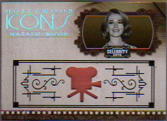 2008 Celebrity Cuts Hollywood Icons Material #NW Natalie Wood/100