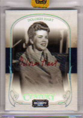 2008 Celebrity Cuts Century Signature Gold #18 Dolores Hart/200