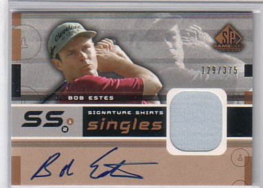 2003 SP Game Used Signature Shirts Singles #BE Bob Estes