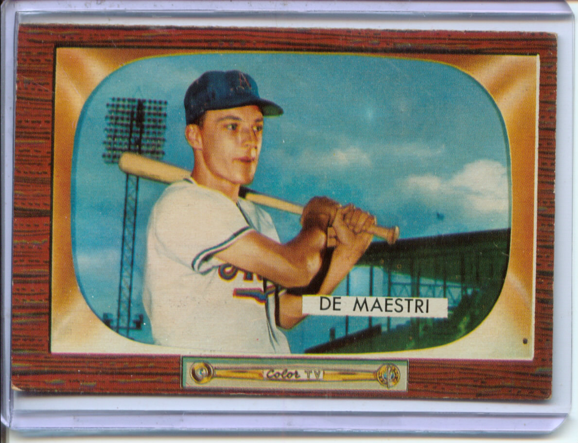 1955 Bowman #176 Joe DeMaestri