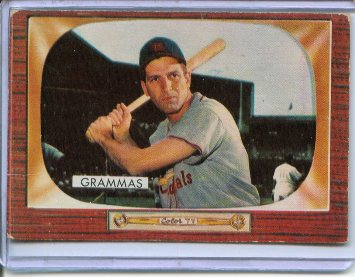 1955 Bowman #186 Alex Grammas