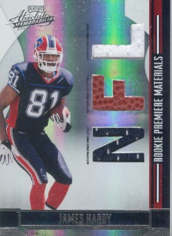 2008 Absolute Memorabilia Rookie Premiere Materials NFL #273 James Hardy