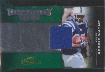 2008 Playoff Prestige Prestigious Pros Materials Green #41 Reggie Wayne