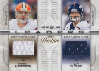 2008 Playoff Prestige League Leaders Materials #5 Derek Anderson/Jay Cutler