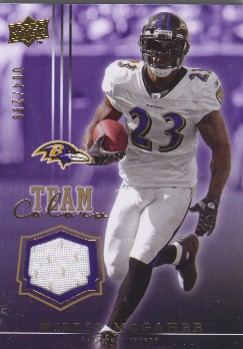 2008 Upper Deck Team Colors Jerseys Gold #TCWM Willis McGahee