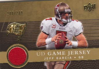 2008 Upper Deck Game Jerseys Gold #UDGJJG Jeff Garcia