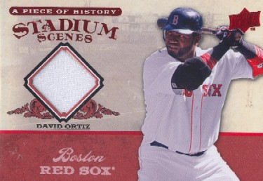 2008 UD A Piece of History Stadium Scenes Jersey Red #SS6 David Ortiz