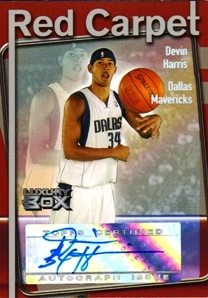 2004-05 Topps Luxury Box Red Carpet Autographs #DEH Devin Harris