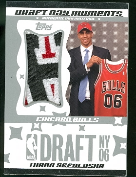 2006-07 Topps Big Game Draft Day Moments Patches Jumbo #TS Thabo Sefolosha