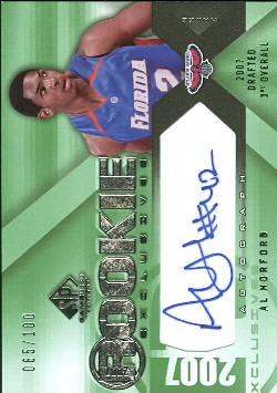 2007-08 SP Game Used Rookie Exclusives Autographs #REHO Al Horford
