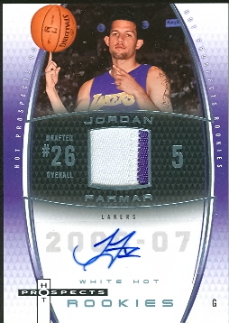 2006-07 Fleer Hot Prospects White Hot #82 Jordan Farmar JSY AU