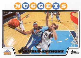 2008-09 Topps #15 Carmelo Anthony