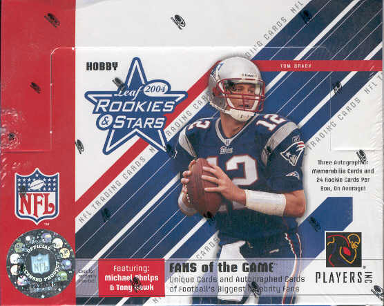 2004 Leaf Rookies and Stars NFL Football Sports Trading Cards Hobby Box