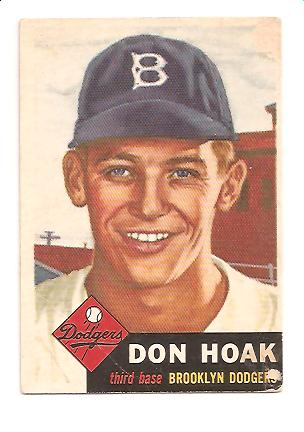 1953 Topps #176 Don Hoak RC