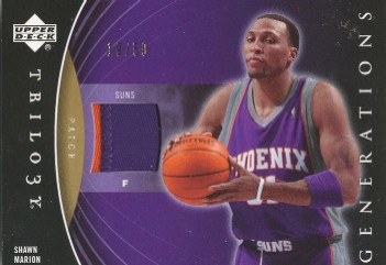 2006-07 Upper Deck Trilogy Generations Present Patches #PRMSM Shawn Marion