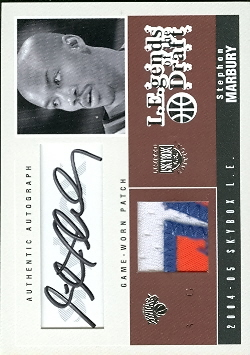 2004-05 SkyBox LE Legends of the Draft Patches Autographs #SM Stephon Marbury