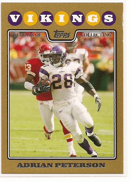2008 Topps Gold Border #65 Adrian Peterson front image
