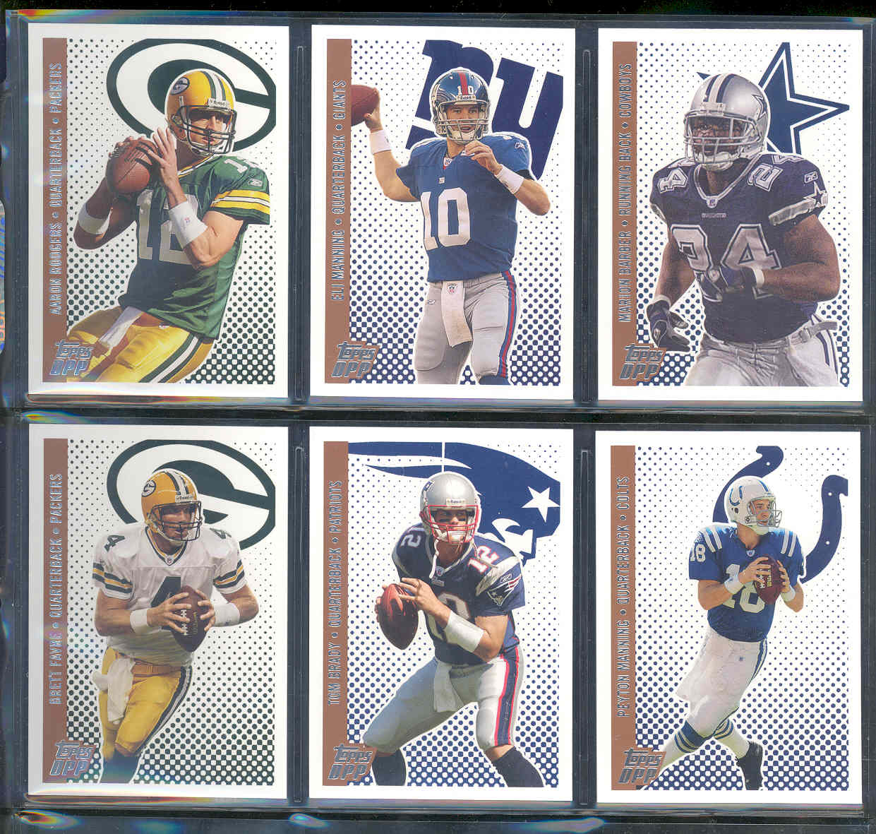 2006 Topps Draft Picks and Prospects Set 1-110 w/ Aaron Rodgers Manning Marion Barber Brett Favre Tom Brady and other Low Shipping