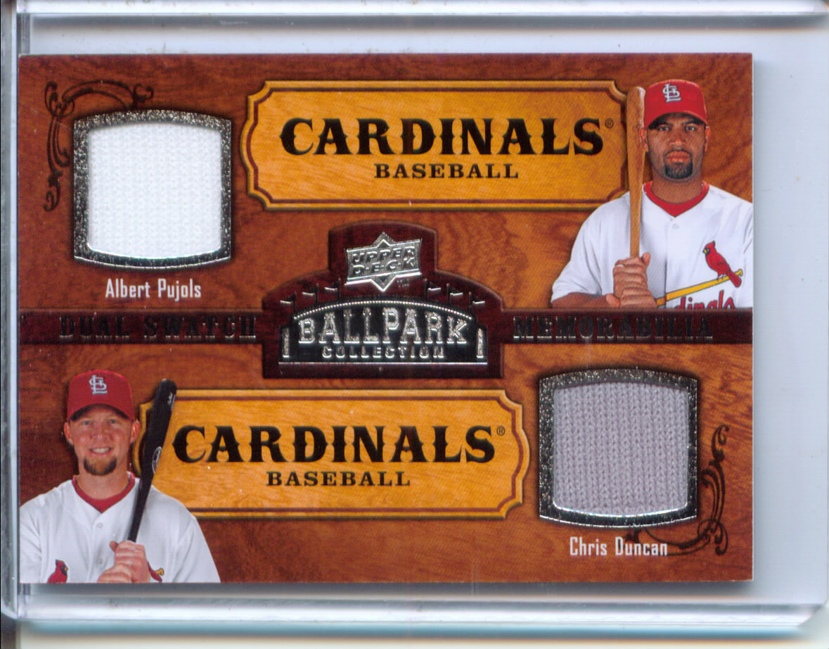2008 Upper Deck Ballpark Collection #180 Albert Pujols/Chris Duncan