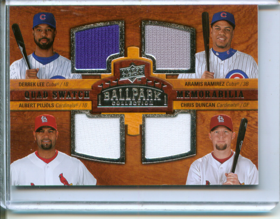 2008 Upper Deck Ballpark Collection #234 Derrek Lee/Aramis Ramirez/Albert Pujols/Chris Duncan