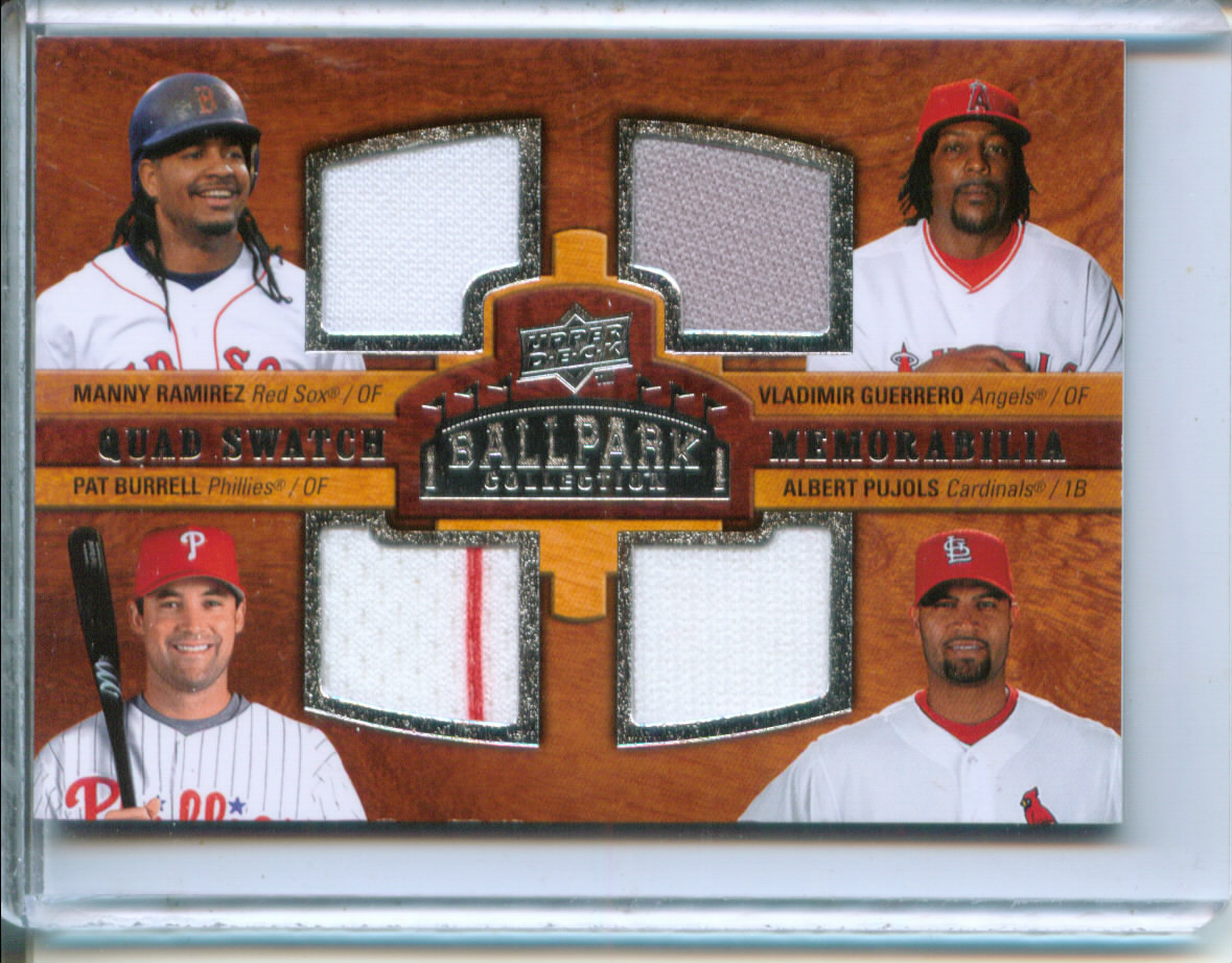 2008 Upper Deck Ballpark Collection #237 Manny Ramirez/Vladimir Guerrero/Pat Burrell/Albert Pujols